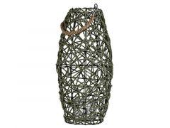 Lantaarn Rope Grijs-Groen 26X26Xh50Cm Rond