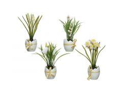 Plant Plastic Eierschaal 4Ass 18X18X22Cm Groen/Wit