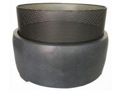 E'Lite Vuurschaal D49Cm Op Clayfibre Sokkel Rond D50Xh24Cm