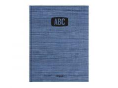 Brepols Deskphone Adresboek Abc Tessuto Blauw 16.8X22Cm