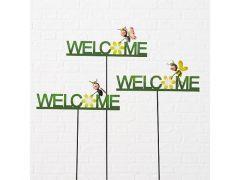 Tuinstaak Welcome H90Cm Veelkleurig 3Ass.