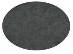 Placemat Truman Oval 33X45Cm Double Layer Black
