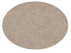 Placemat Truman Oval 33X45Cm Double Layer Taupe