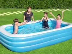 Bestway Rechthoekige Frame Pool Blauw 305X183X56Cm