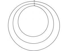 D Ring Metaal Zwart Klein