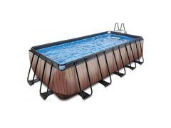 Exit Zwembad Rechthoekig Frame Pool 5.4X2.5X1.22M 12V Zandfilter – Timber Style