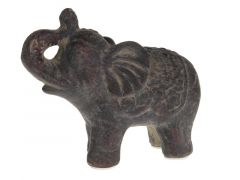 Elephant Terra Cotta 15.5X8X12.5Cm Dark Grey