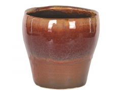Pot Ceramic 13.5X13.5X13.5Cm Brown/Red