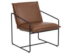Sheba Resting Chair Leather Look Retro Brandy