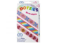 Diamond Dotz Armbanden Dotzies 3St. Pinks