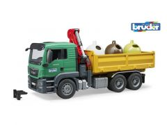 Bruder Man Tgs Truck With Recycling Containers