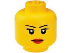 Rc Lego Iconic Opbergbox Hoofd Girl Groot Geel