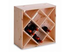 Wijnrek Pine 52X25X52Cm