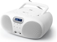 MUSE MD208 DBW / BOOMBOX CD PLAYER / DAB TUNER / AUX / WHITE