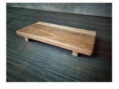 Suar Hout Plank Met Voetjes 30X16X4Cm