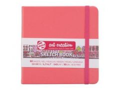 Talens Art Creation Schetsboek Coral Red 12X12 140 G