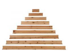 Legplanken Muur Piramide Hout Nat 180X9X134Cm