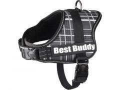 Harnas Best Buddy Pluto Zwart Grid