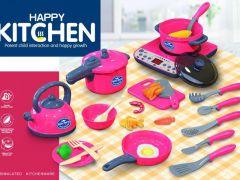 Merx Keukenspeelset 2 Assortimenten Rood-Blauw, prijs Per Stuk