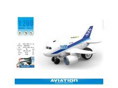 Aviation Vliegtuig Met Licht En Geluid