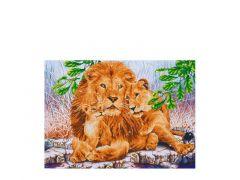 Diamond Dotz Lion Family: 76X55Cm