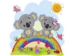 Rainbow Loom Crystal Card Kit Koala 18X18Cm