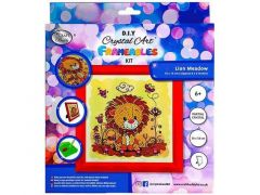 Rainbow Loom Crystal Art Kit Kinder Frame Flying Panda 16X16Cm