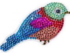 Rainbow Loom Crystal Stickers Bird