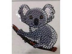 Rainbow Loom Crystal Stickers Koala Bear