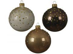 Kerstbal Glas Bew.Stip Dia8Cm 3 Assortiment Prijs Per Stuk/Motief
