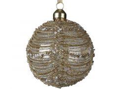 Kerstbal Glas Deco Kraal Multi Helder Dia8Cm