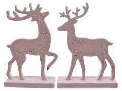 Hert Mdf Goud Stip Roze/Goud 2 Assortiment Prijs Per Stuk/Motief