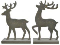 Hert Mdf Goud Stip Groen/Goud 2 Assortiment Prijs Per Stuk/Motief