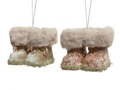 Laarzen Polyester Hang 7.5X9.5X8Cm 2 Assortiment Prijs Per Stuk/Motief