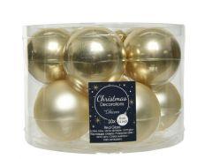 Kerstbal Glas Glans-Mat Dia6Cm Champagne
