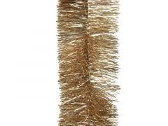 Guirlande Lametta Glans Dia7.5X270Cm Camel Bruin