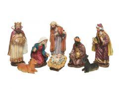 Kerstgroep Poly 8 Figuren 12Cm Multi