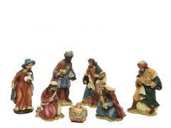 Kerstgroep Poly 7 Figuren 9Cm Multi