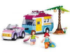Sluban Girl'S Dream Auto Met Caravan