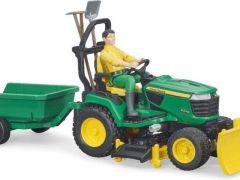 Bruder 62104 John Deere Lawn Mower With Trailer