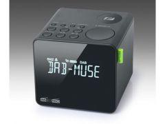Muse M-187 Cdb Cube Clock Radio Dab Black Finish