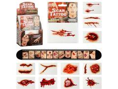 Litteken Tatoeages Halloween 12 Stuks