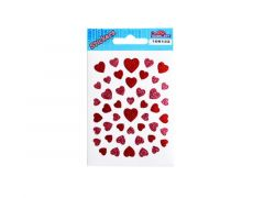Sticker.108 133 Hartjes Rose-Rood