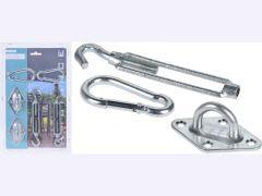 Schaduwdoek Accessoires Metaal Set/6
