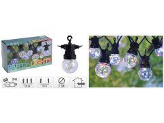 Feestverlichting 10 Lampjes Multikleur 7.5M