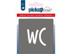 Route Acryl Wc Grijs 9 X 9 Cm