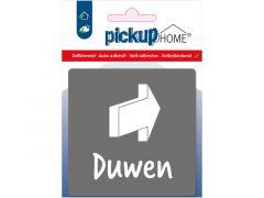 Route Acryl Duwen Grijs 9 X 9 Cm