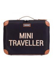 Childhome Mini Traveller Valiesje Zwart/Goud