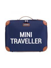 Childhome Mini Traveller Valiesje Blauw/Wit