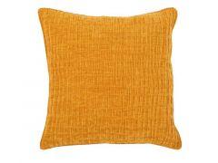 Kussen (Gevuld) Chenille - 42X42 Cm -  Mustard